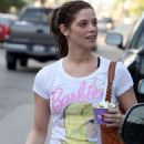 Ashley Greene was spotted heading off to her local gym in Los Angeles on Tuesday afternoon (January 5 2010).