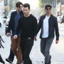 Joe & Kevin Jonas meet some friends for lunch in Los Angeles, California on January 9, 2015 - 454 x 565
