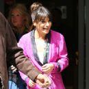 Lea Michele Leaving BBC Radio 2 studios in London