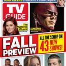 Ben McKenzie, Anthony Anderson, Laurence Fishburne, Téa Leoni, Grant Gustin, Debra Messing, The Mysteries of Laura - TV Guide Magazine Cover [United States] (15 September 2014)