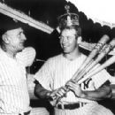 Mickey with manager Casey Stengel  after winning the batting Triple Crown in 1956
