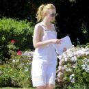 Elle Fanning in White Dress out in LA - 454 x 650