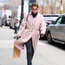 Cobie Smulders in Pinh Coat – Shopping in NYC - 454 x 592
