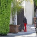 Ashley Benson in Red Pants – Outside her boyfriends place in Los Angeles