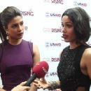 Freida Pinto & Priyanka Chopra during the press confernce on GirlRising by UNAID (December 29, 2014) - 454 x 340