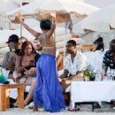 Gabrielle Union in Green Bikini at a beach in Ibiza - 454 x 324