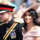 Prince Harry Windsor and Meghan Markle attend the 2018 Trooping the Colour ceremony