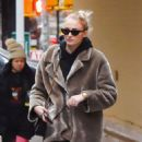 Sophie Turner in Fur Coat – Out in New York City