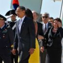 President Obama & Family Arriving In Rome For G8