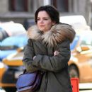Katie Holmes picks up a cup of coffee in NYC - 454 x 681