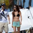 Lily Aldridge On The Set Of A Photoshoot In Miami