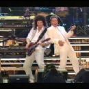 Cliff Richard & Brian May get down