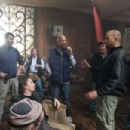 (L-r) First Assistant Director JEFFREY J.P. WETZEL, GARY OLDMAN, Department Head Hairstylist GEORDIE SHEFFER, Director ALBERT HUGHES, Cinematographer DON BURGESS, Director ALLEN HUGHES and A Camera First Assistant NICK SHUSTER on set of Alcon Entertainmen