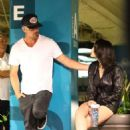 Eiza Gonzalez in Shorts with Josh Duhamel – Out in Hollywood