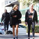 Hailey Bieber – arrives at a Pilates class in West Hollywood