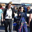 Dita von Teese and boyfriend Adam Rajcevich – Shopping in Los Angeles - 454 x 559
