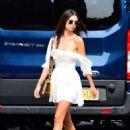 Emily Ratajkowski in White Mini Dress – Out in New York City - 454 x 607
