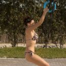 Imogen Thomas Wearing Bikini On Jumeirah Beach