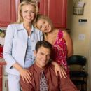 Faith Ford ('Hope,' left), Ted McGinley ('Charley,' center) and Kelly Ripa ('Faith,' right) star in Lionsgate Home Entertainment's Hope & Faith: Season 1. - 454 x 568