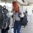 Kristen Stewart Arriving At Lax Airport