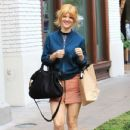 Arden Myrin was in a bubbly mood during a shopping trip to The Grove in Hollywood, California on December 12, 2016