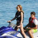 Lindsay Lohan Bikini Candids In Mykonos