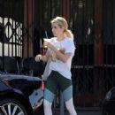 Emma Roberts – Leaves Blue Bottle Coffee in Los Angeles