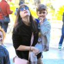 Selma Blair spotted taking her son to see the new movie 'Baby Boss' at the theater at The Grove in Los Angeles,  California March 30th, 2017 - 447 x 600