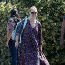 Amy Adams in Long Dress out in LA