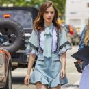 Lily Collins out and about in New York City - 454 x 831