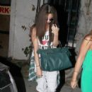 Selena Gomez got her hair chemically straightened today at a hair salon in West Hollywood, California on July 19, 2013 - 454 x 620