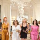 (L-r) CYNTHIA NIXON as Miranda Hobbes, SARAH JESSICA PARKER as Carrie Bradshaw, KIM CATTRALL as Samantha Jones and KRISTIN DAVIS as Charlotte York in New Line Cinema's comedy 'SEX AND THE CITY 2,' a Warner Bros. Pictures release. Photo by Crai