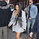 Kim Kardashian and her PR guy Simon Huck step out in New York City, New York on February 14, 2017