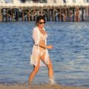 Danielle Bux – Bikini candids on the beach in Malibu - 454 x 303