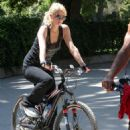 Paris Hilton Candids In Hollywood On A Bike - May 10 2007