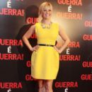 "Reese Witherspoon in dressed in sunny yellow at the premiere of the movie ""War is War"" in Brazil at the Cinepolis Lagoon"