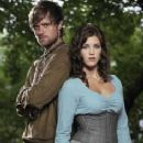 Jonas Armstrong and Lucy Griffiths