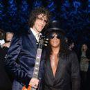 "Howard Stern and Slash attend SiriusXM's ""Howard Stern's Birthday Bash"" at Hammerstein Ballroom on January 31, 2014 in NYC"