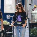 Emily Ratajkowski spotted out with friends in downtown New York
