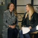 Hilary Duff and Sutton Foster – Filming 'Younger' in NYC - 454 x 681