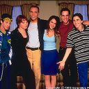 Seth Green, Lauren Ambrose, Ethan Embry, Jennifer Love Hewitt, Peter Facinelli and Charlie Korsmo in Columbia's Can't Hardly Wait - 1998 - 350 x 253