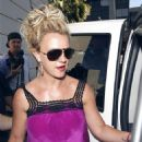 Britney Spears With Purple Top After Business Lunch In Studio City, 2008-06-06