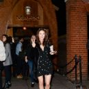 Jess Impiazzi – Leaving Mahiki Restaurant in London