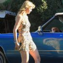 Mischa Barton - Gets a Flat Tire in Her Classic Cadillac - 2010-11-15