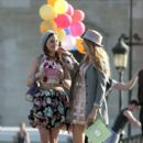 "Tres Chic! ""Gossip Girl"" stars Blake Lively and Leighton Meester flaunt their Parisien style as they shoot scenes for the popular US teen drama in the French captial"