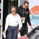 Jennifer Lopez in Spandex – Hits the gym in Miami