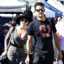 Sarah Hyland and Wells Adams – Shopping at Farmer's Market in Los Angeles - 454 x 486