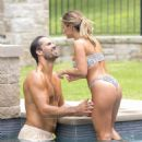 Jessie James Decker – In a bikini poolside – Nashville - 454 x 606
