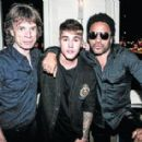 Mick Jagger, Justin Bieber and Lenny Kravitz - Opening of L'Arc club, Paris - 2 October 2014