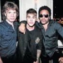 Mick Jagger, Justin Bieber and Lenny Kravitz - Opening of L'Arc club, Paris - 2 October 2014
